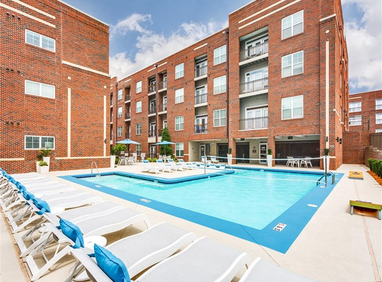 Pool With Sunning Deck at Greenway at Fisher Park, Greensboro, NC, 27401