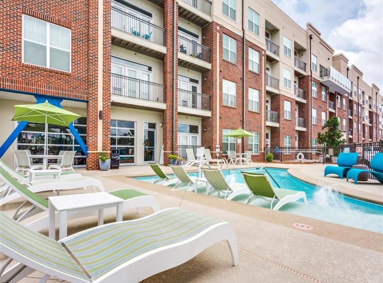 Mini Swimming Pool And Relaxing Area at Greenway at Fisher Park, Greensboro, North Carolina