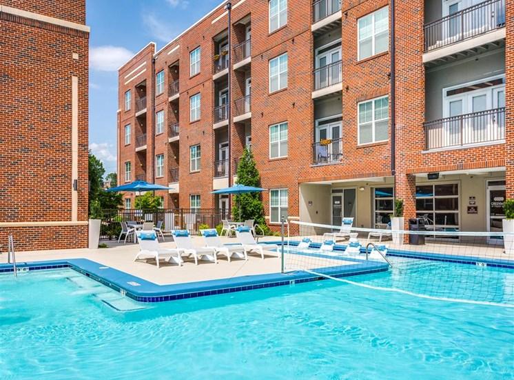 Resort Inspired Pool at Greenway at Fisher Park, Greensboro