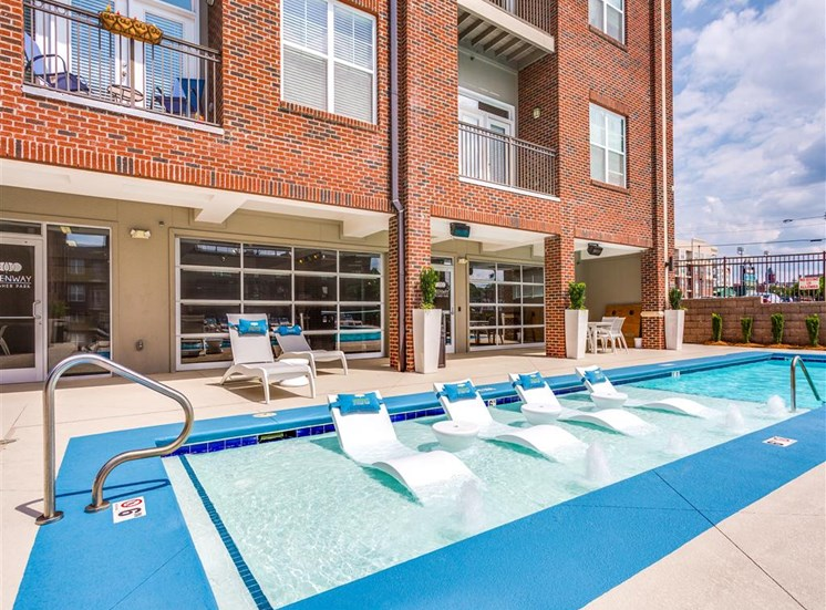 Swimming Pool With Relaxing Sundecks at Greenway at Fisher Park, North Carolina