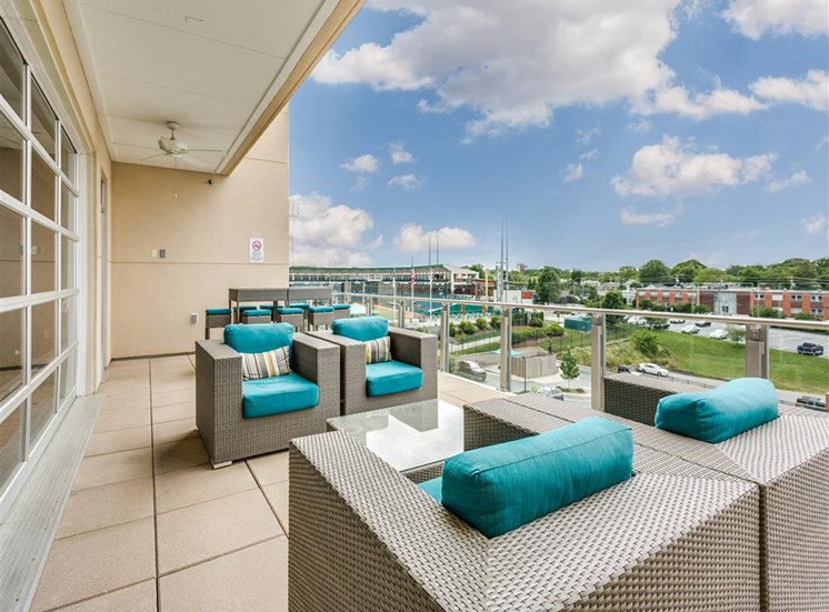 The Rooftop Deck With Views at Greenway at Fisher Park, Greensboro, NC