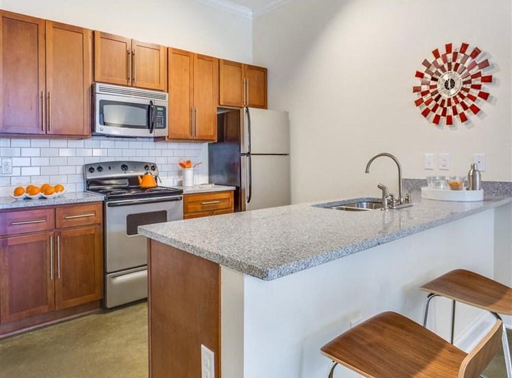 Well Equipped Kitchen at Greenway at Fisher Park, Greensboro, North Carolina