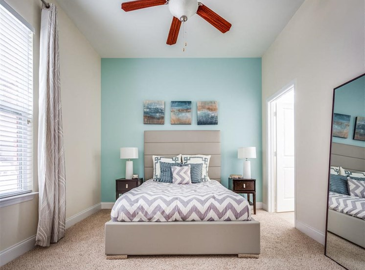 Beautiful Bright Bedroom With Wide Windows at Greenway at Fisher Park, Greensboro