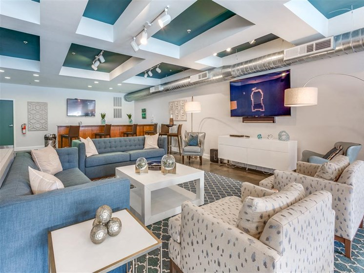 Posh Lounge Area In Clubhouse at Greenway at Stadium Park, Greensboro, 27401