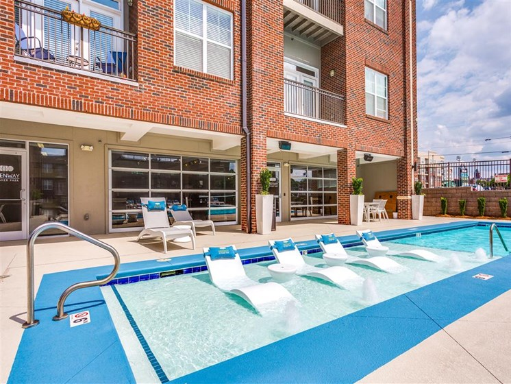 Swimming Pool With Relaxing Sundecks at Greenway at Stadium Park, Greensboro