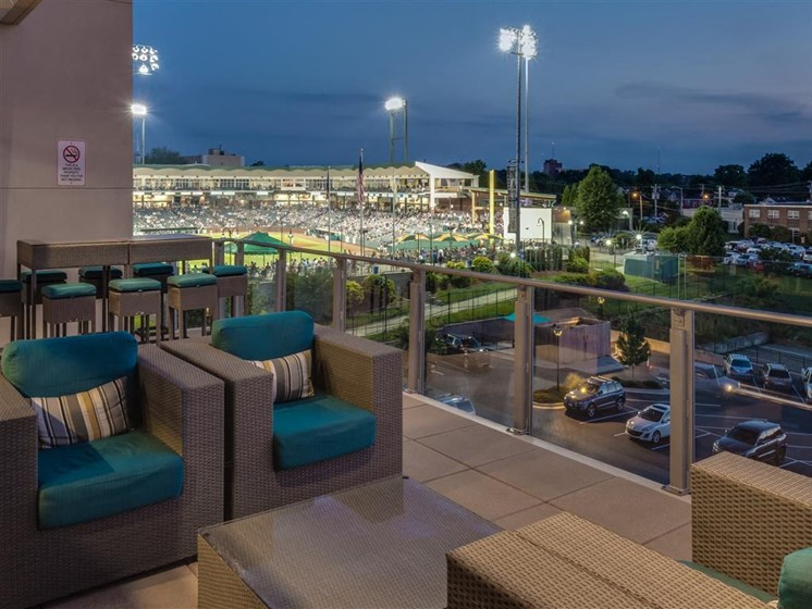 Rooftop Deck at Greenway at Stadium Park, Greensboro, North Carolina