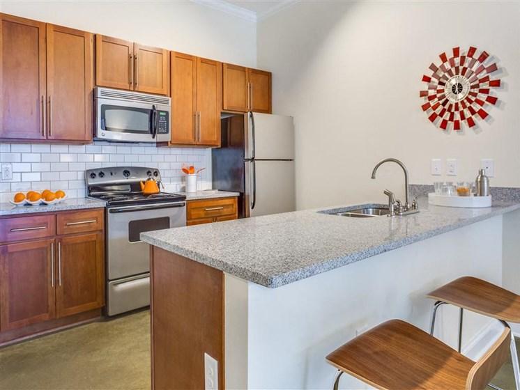 Fully Equipped Kitchen at Greenway at Stadium Park, Greensboro, NC, 27401