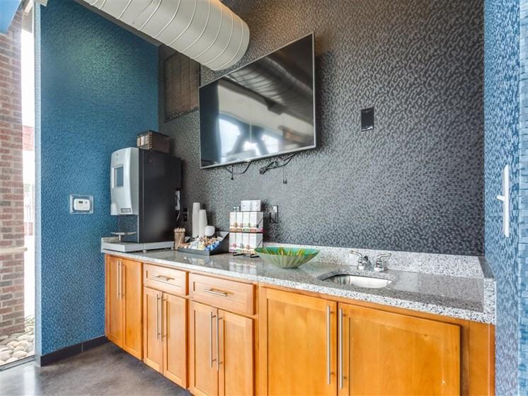 Kitchen Area In Clubhouse at Greenway at Stadium Park, Greensboro, North Carolina
