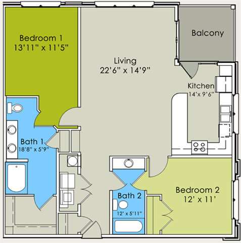 The Fenway Floor Plan 5