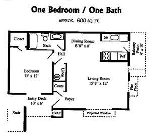 1 BR / 1 BATH
