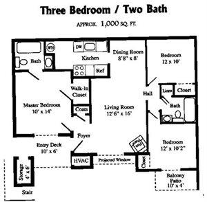3 BR / 2 BATH