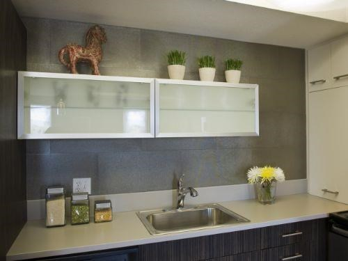 Glass Paneled Cabinetry