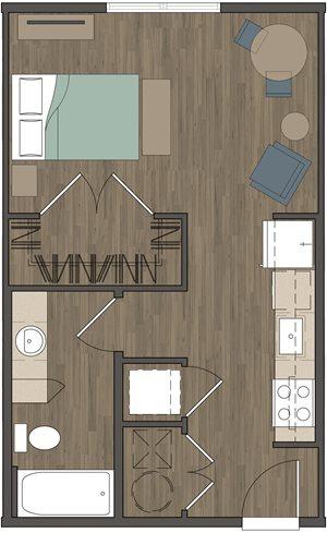 Cassie Gardens Apartments | Studio Apartment