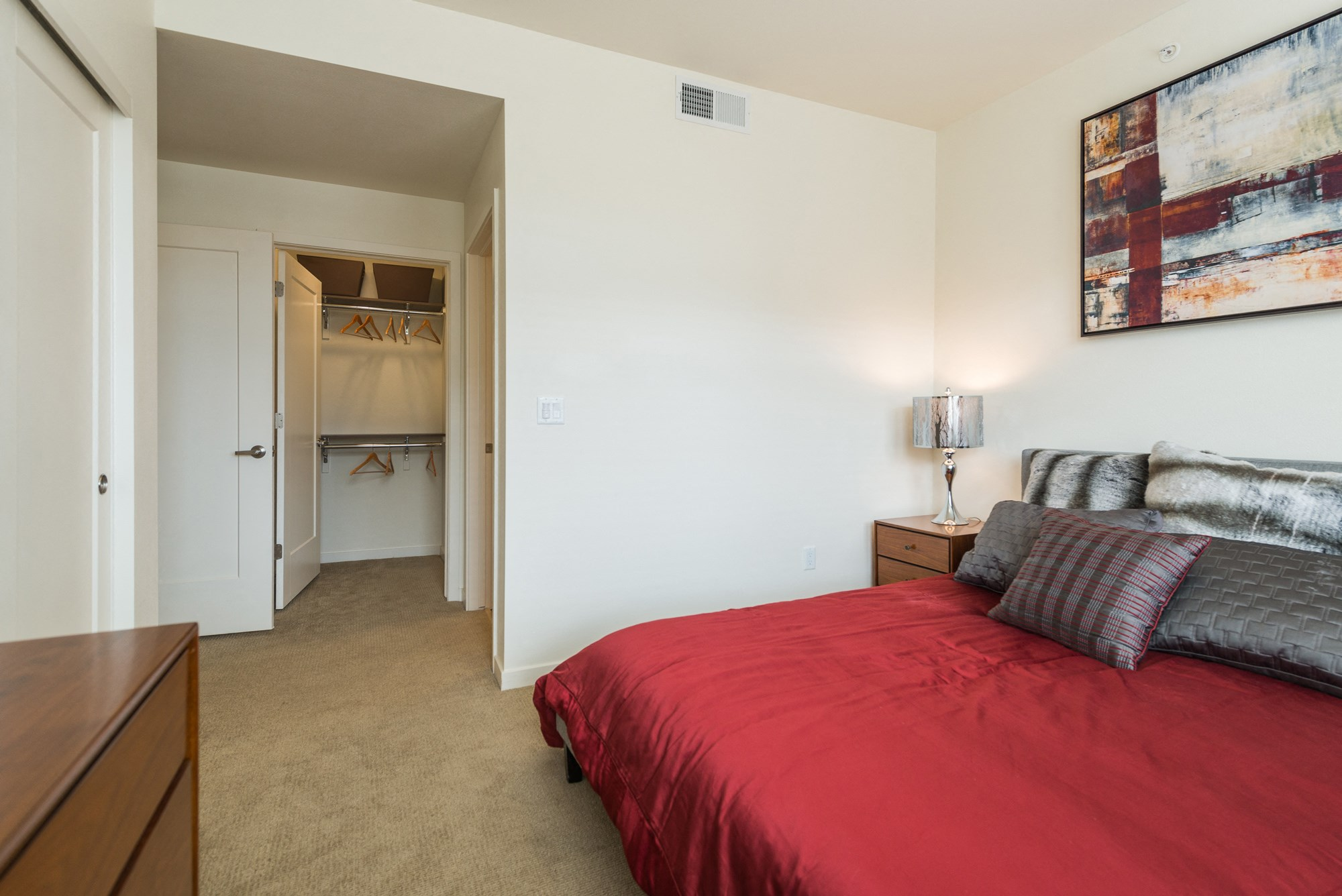 Bedroom at 8000 Uptown Apartments in Broomfield, CO