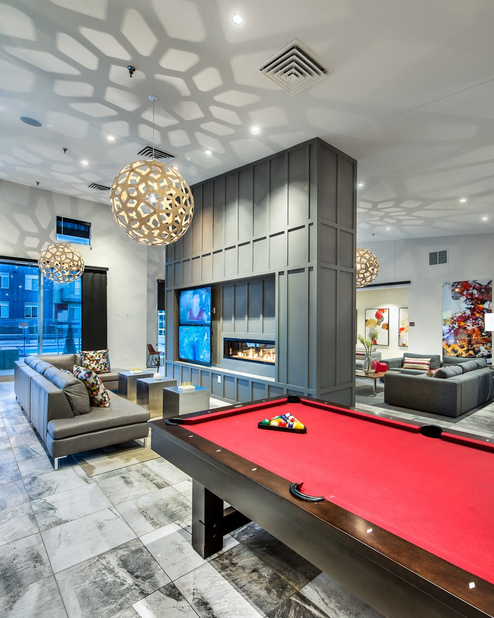 Billiards at 8000 Uptown Apartments in Broomfield, CO