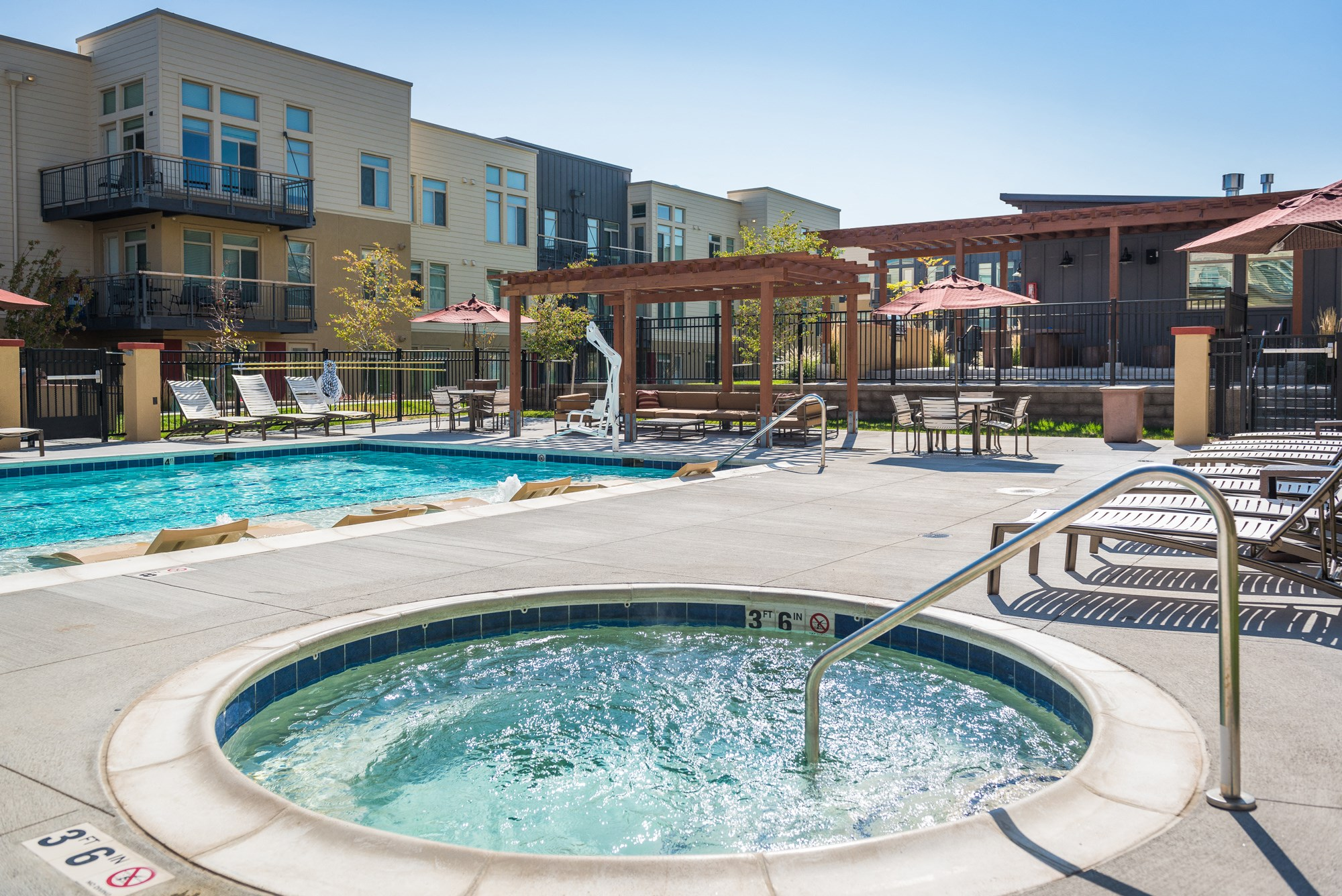 Hot Tub at 8000 Uptown Apartments in Broomfield, CO