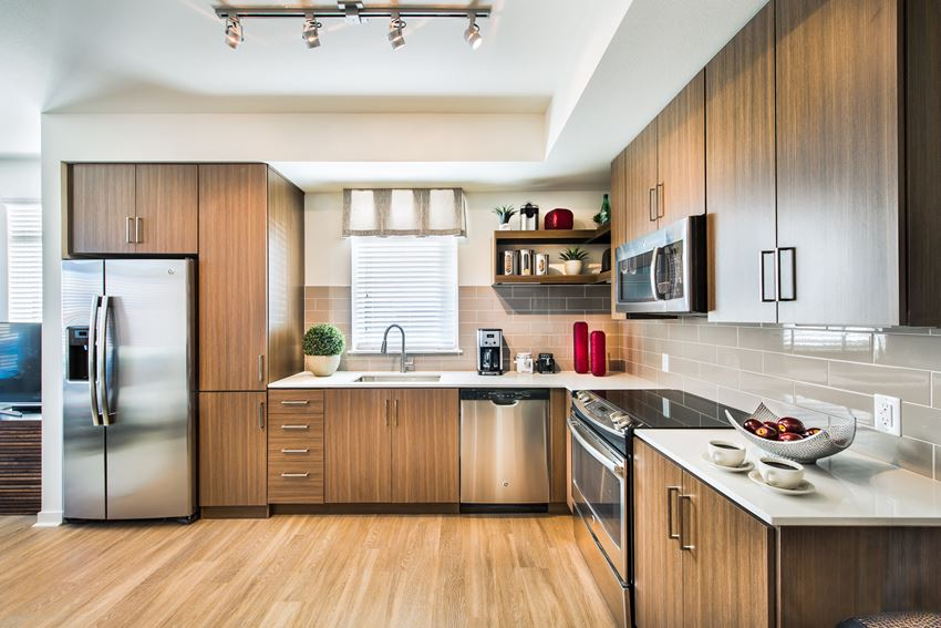 Gourmet Kitchen at 8000 Uptown Apartments in Broomfield, CO