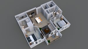 Image of floor plan of luxury apartment A 3 in columbus.