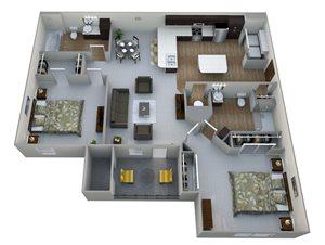 B1  3D Floor Plan