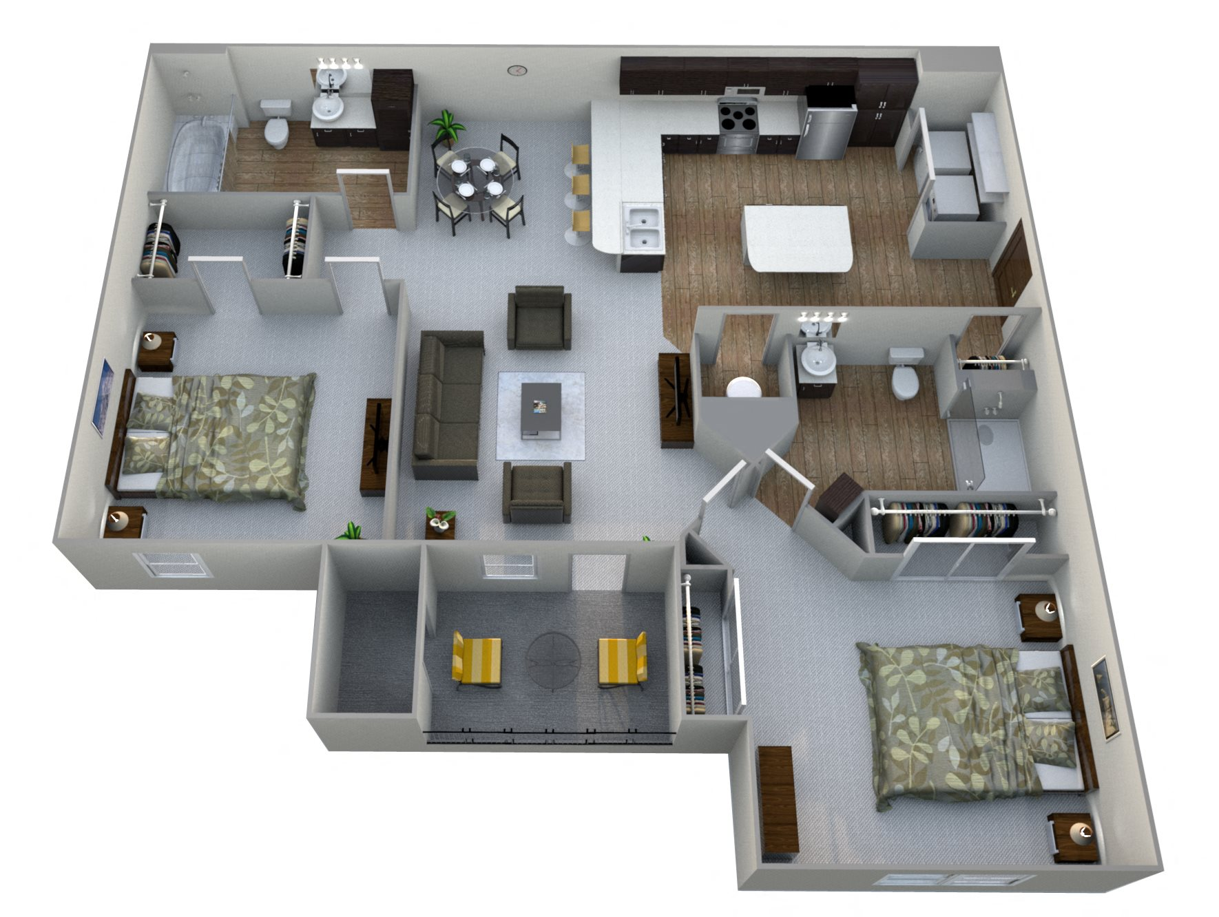 Aventura at maryland oaks in maryland heights 1 2 3 - 2 bedroom apartments in maryland ...