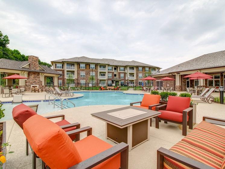 Sparkling Swimming Pool at The Edison at Peytona, Gallatin, Tennessee