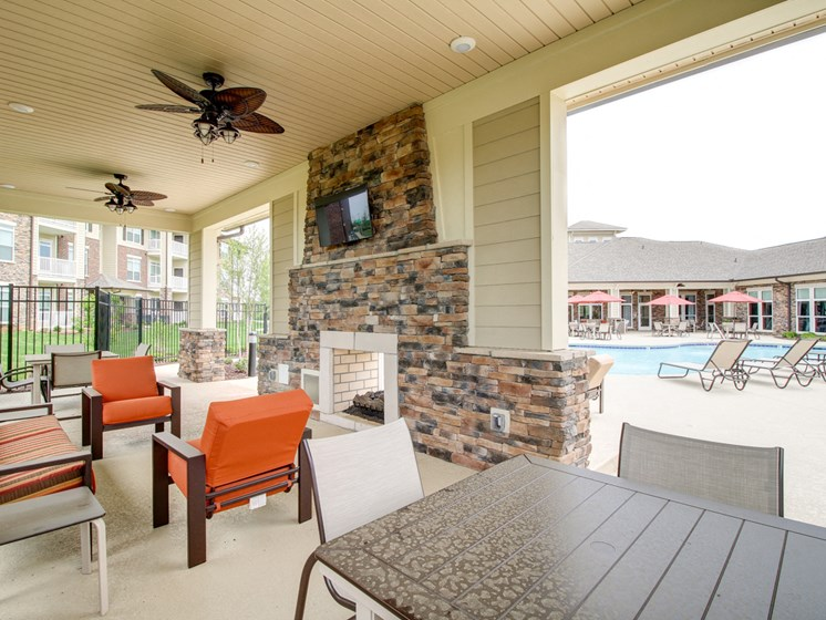 Newly Renovated Lounge by Pool at The Edison at Peytona, Tennessee