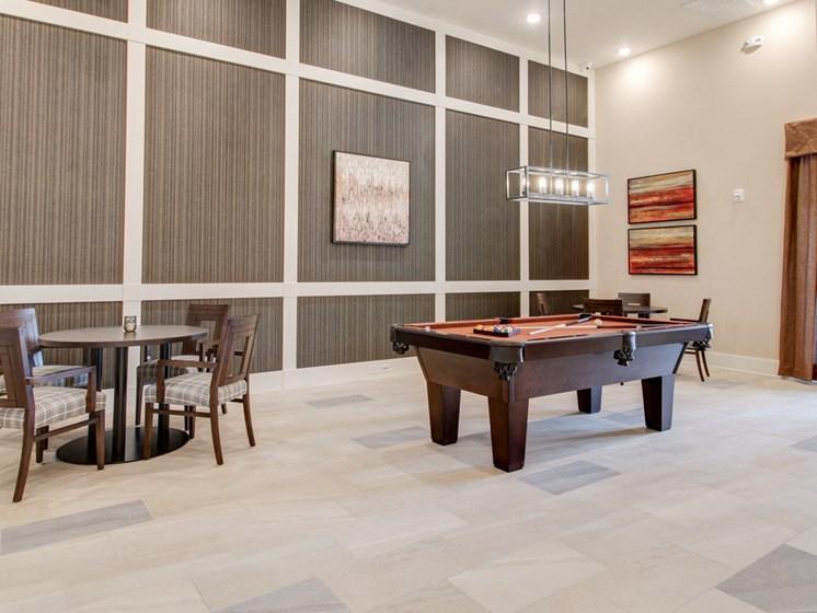 Game Room with Billiards at The Edison at Peytona, Gallatin, TN