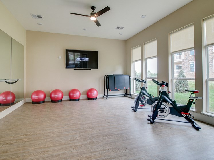 Fitness Center with Separate Spin Room at The Edison at Peytona, Tennessee