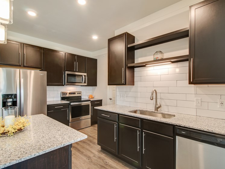 Granite Counter Tops Throughout at The Edison at Peytona, Gallatin, 37066