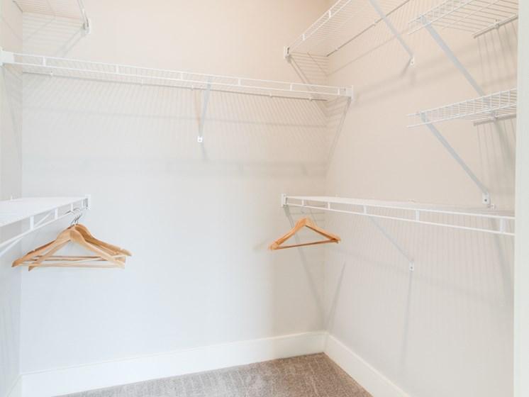 Expansive Closets w/ Open Air Shelving at The Edison at Peytona, Tennessee,37066