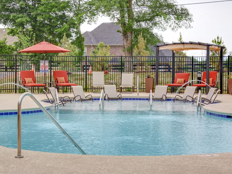 Lounging by the Pool at The Edison at Peytona, Gallatin, TN,37066