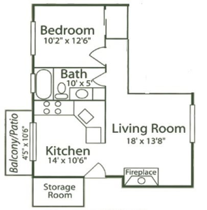1B - Rosebud Floor Plan 3