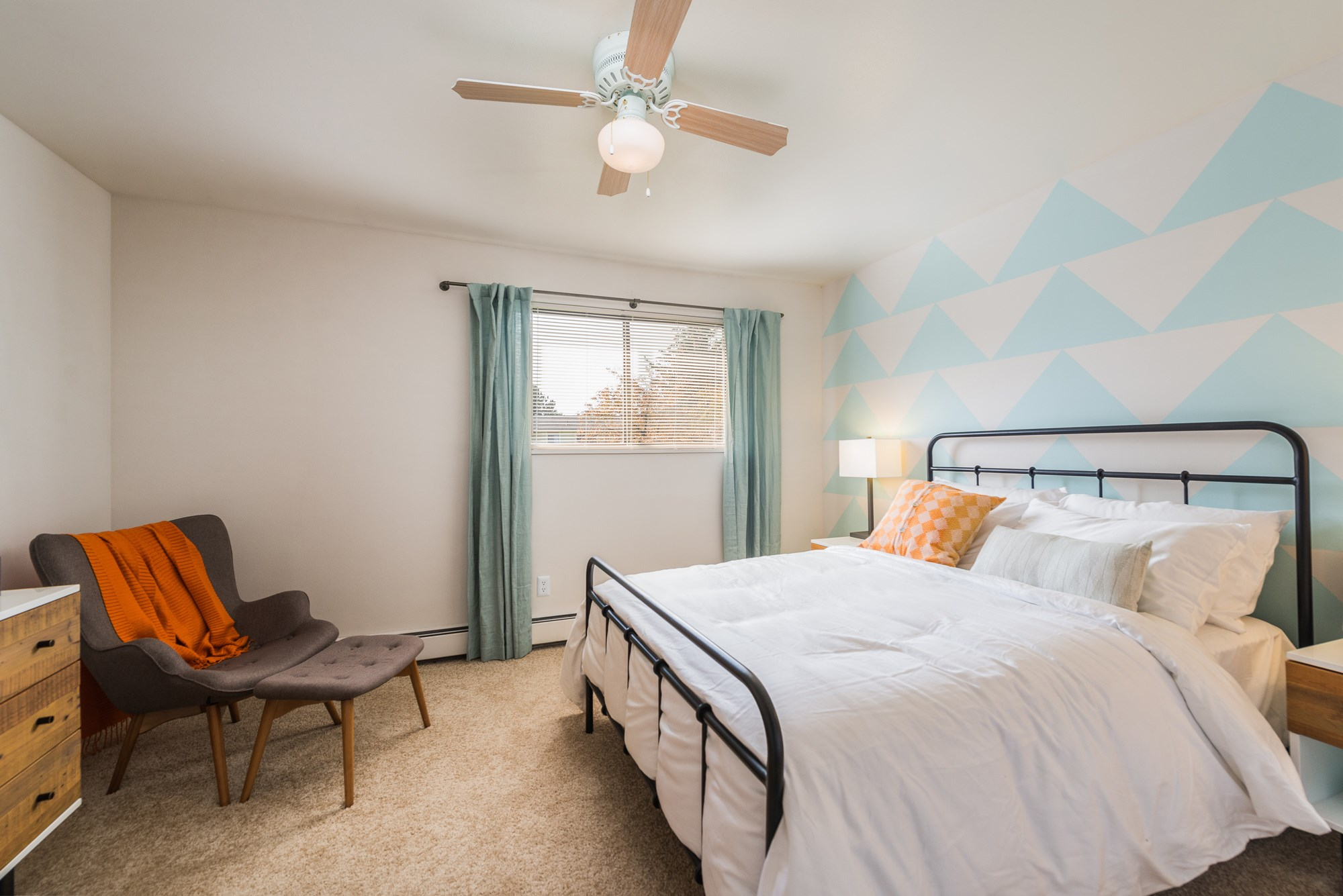 Bedroom at Village Gardens Apartments in Fort Collins, CO