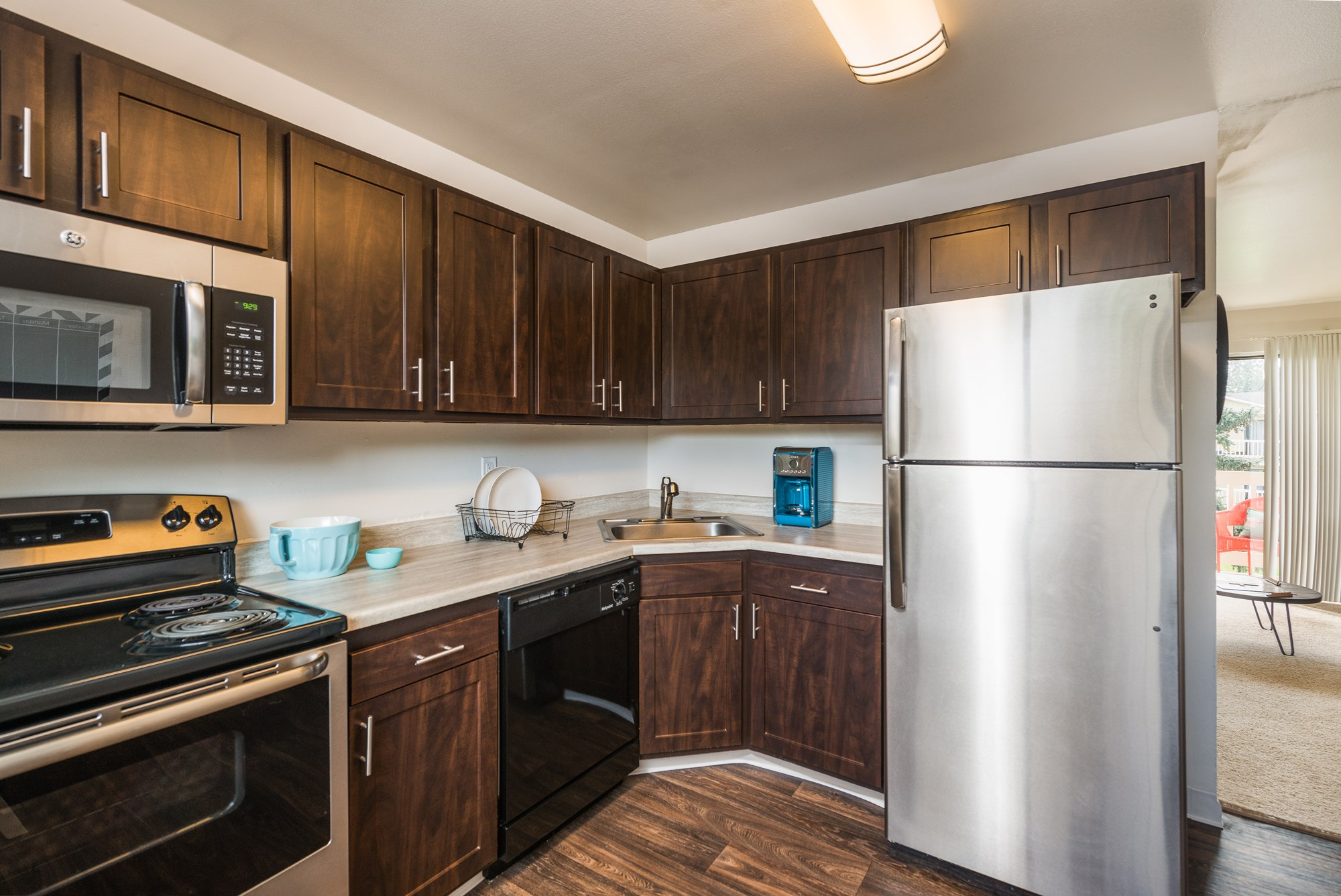 Kitchen at Village Gardens Apartments in Fort Collins, CO
