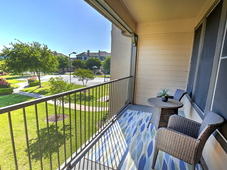 Breezy balcony a t Landing at Round Rock apartments iat 7711 O Connor Road, Round Rock, TX