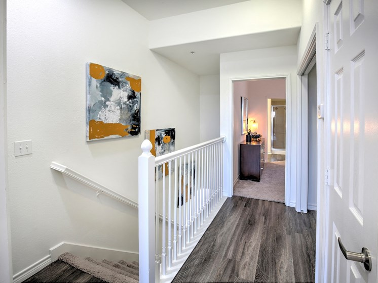 upstairs Landing at Landing at Round Rock apartments in Texas, 78681