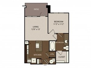 Floor plan at Madrone, Austin,Texas
