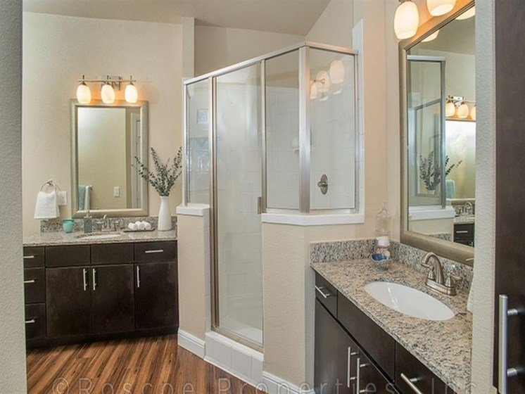 Glass-Enclosed Showers at Madrone, Texas, 78738