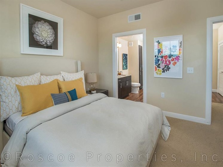 Beige Carpet in Bedroom at Madrone, Austin,Texas