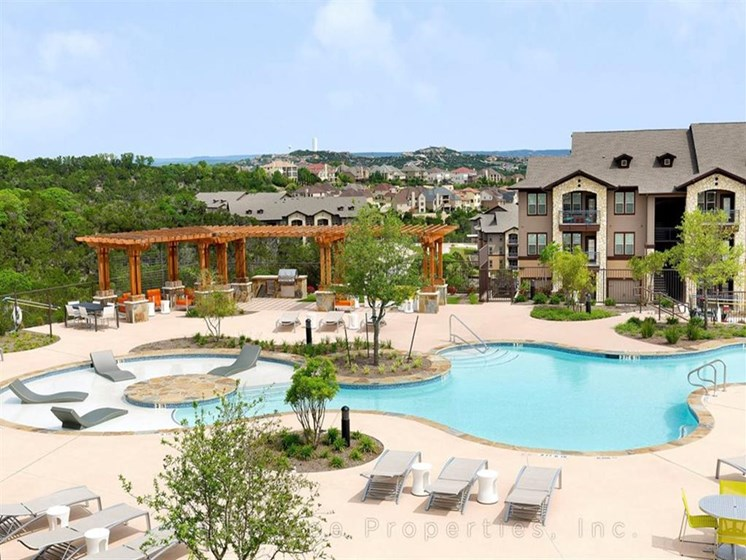 Resort-Style Pools with Sunning Ledge  at Madrone, Austin, TX 78738