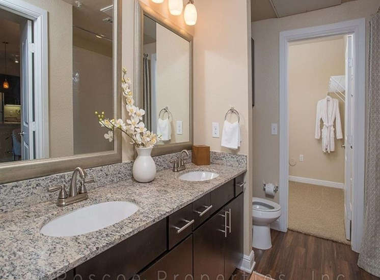 Custom Framed Bathroom Mirrors at Madrone, Austin, 78738