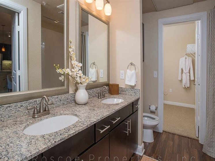 Custom Framed Bathroom Mirrors at Madrone, Austin, 78738
