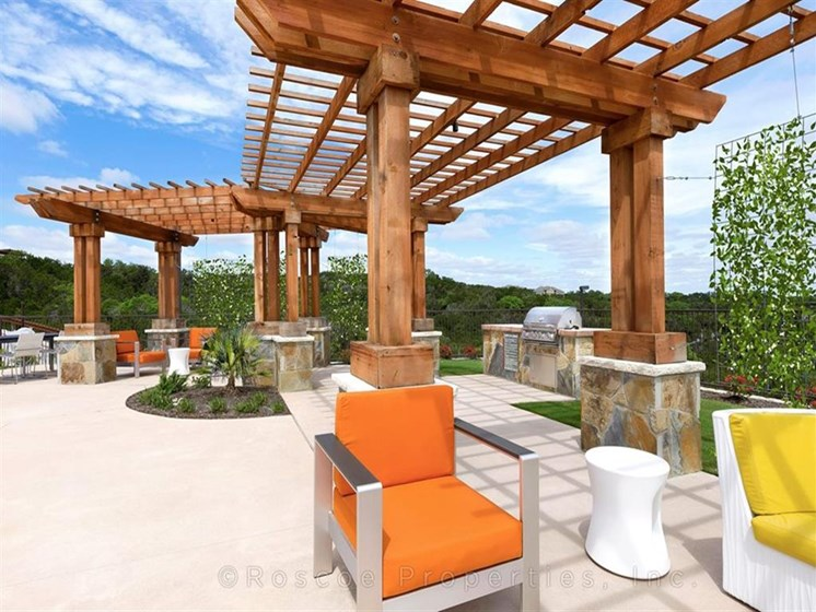 Poolside Pergola at Madrone, Austin