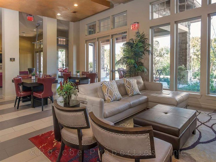 Clubhouse with Dining Tables at Madrone, Texas, 78738