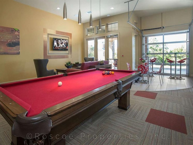 Social Center featuring Billiards, Arcade, and Media Lounge at Madrone, Austin,Texas