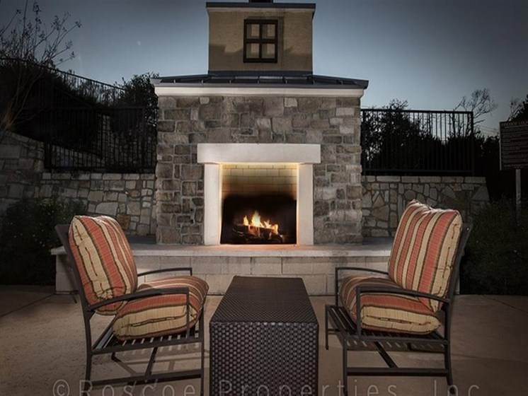 Outdoor Fire pit Station at Madrone, Austin, TX 78738