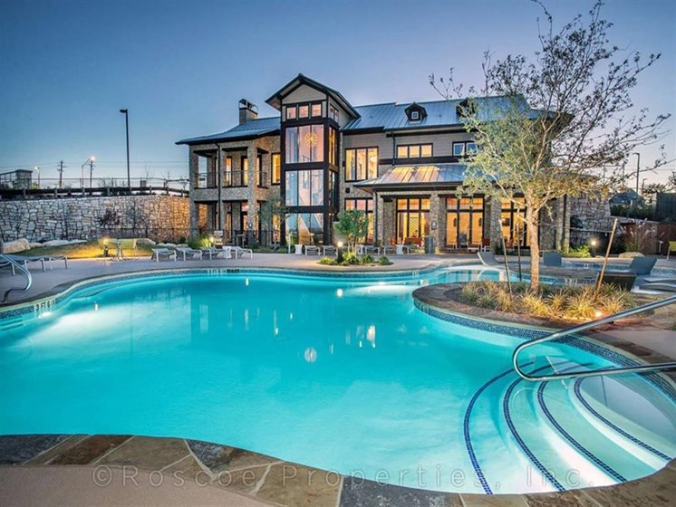 Lounge Poolside or Relax in a Cabana at All Season Pool at Madrone, Austin, TX