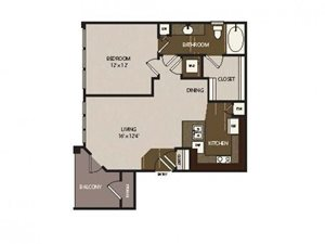 Floor plan at Madrone, Austin, TX