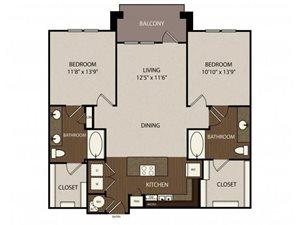 Floor plan at Madrone, Austin, 78738