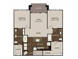 Floor plan at Madrone, Texas